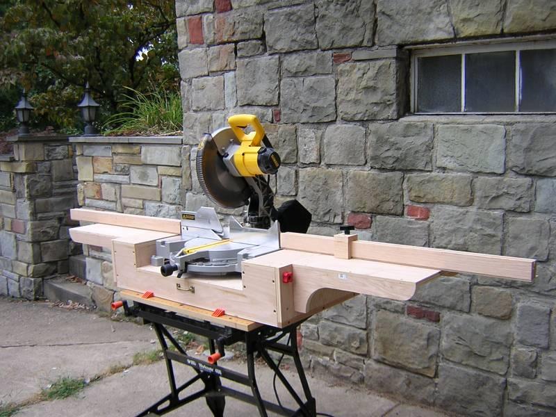 Shop Built Chop Saw Stand